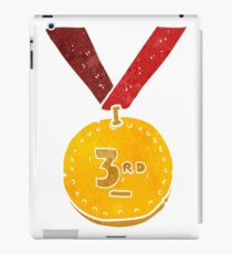 retro cartoon sports medal iPad Case/Skin