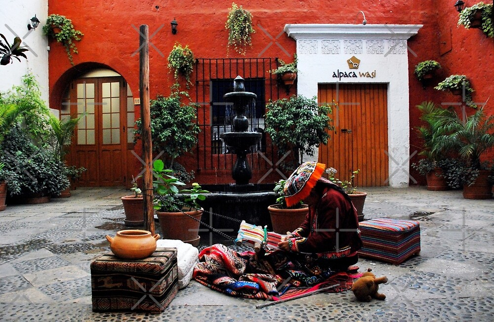 Weaving in the Patio by Alessandro Pinto