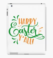 Happy Easter Y'all green and orange iPad Case/Skin