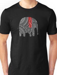 Red and Black Elephant Unisex T-Shirt
