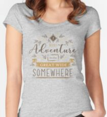 Beauty And The Beast Quote Women's Fitted Scoop T-Shirt