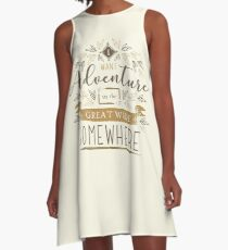 Beauty And The Beast Quote A-Line Dress