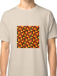 yellow background red black dots pattern Classic T-Shirt