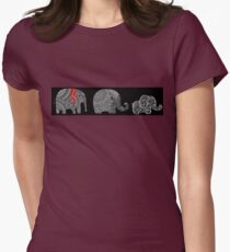 Graphic Tshirt Decorated Elephant for Men and Women Womens Fitted T-Shirt
