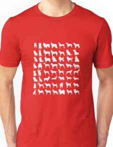 Dog Silhouettes | Love Dogs Unisex T-Shirt