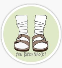 You Birkenrock Light Green  Sticker