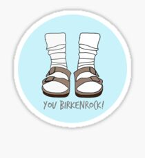 You Birkenrock Light Blue  Sticker