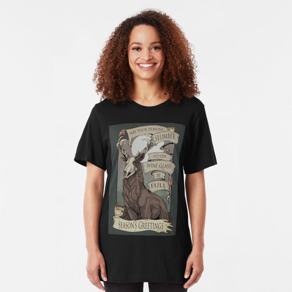 Mögen deine Dämonen Slim Fit T-Shirt