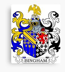 Bingham Coat of Arms Canvas Print