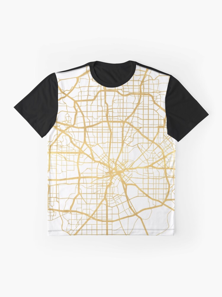 Vista alternativa de Camiseta gráfica DALLAS TEXAS CITY STREET MAP ARTE