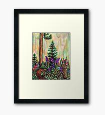 Cabin plein air Framed Print