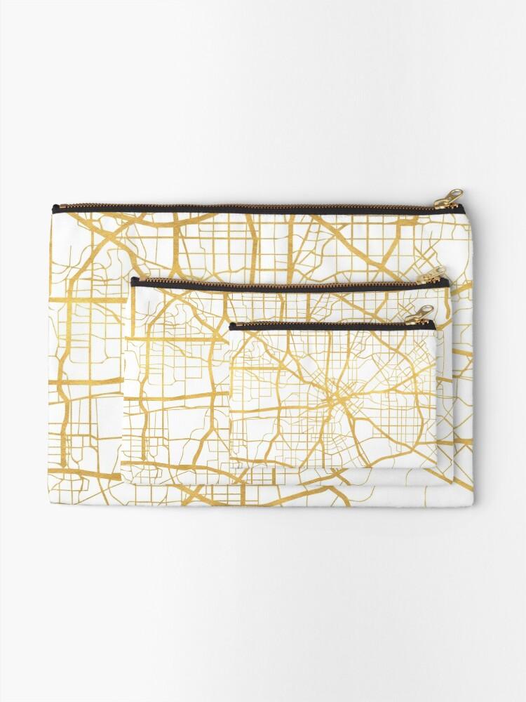 Vista alternativa de Bolsos de mano DALLAS TEXAS CITY STREET MAP ARTE