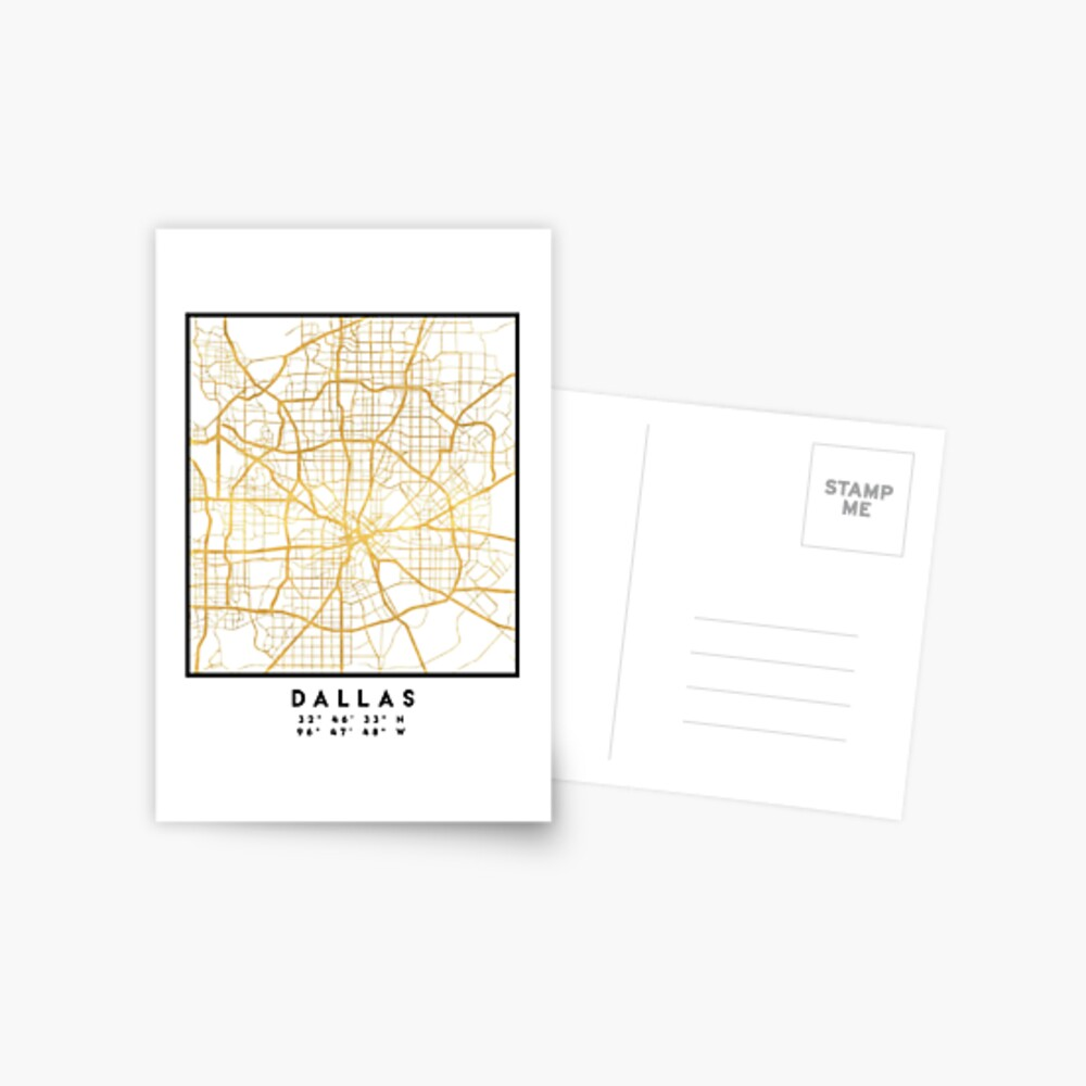 DALLAS TEXAS CITY STREET MAP ARTE Postal