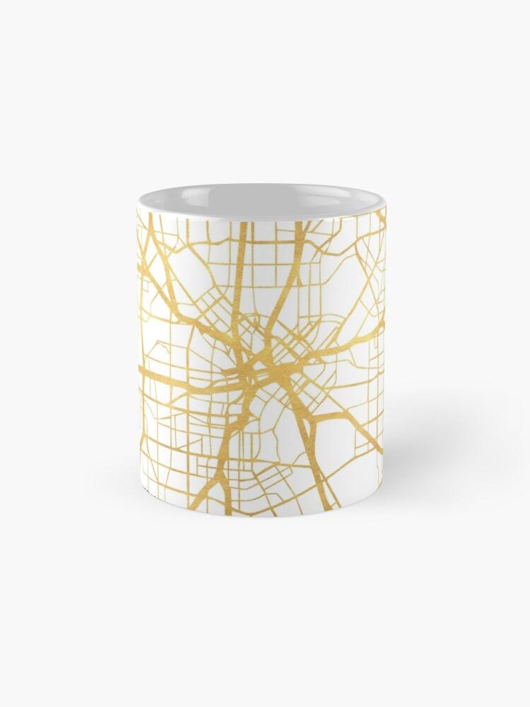 Vista alternativa de Taza DALLAS TEXAS CITY STREET MAP ARTE