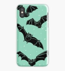 Batty in Mint iPhone Case/Skin