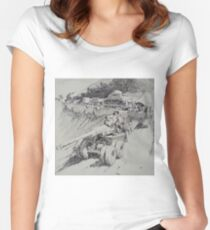 Italy 1943. Women's Fitted Scoop T-Shirt