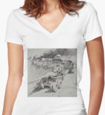 Italy 1943. Women's Fitted V-Neck T-Shirt