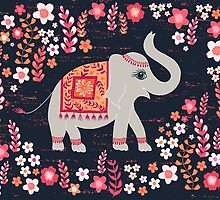 Elephants in the Flower Garden by Jill O'Connor
