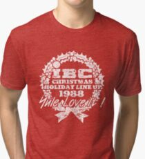 IBC Christmas Line Up- RED Tri-blend T-Shirt