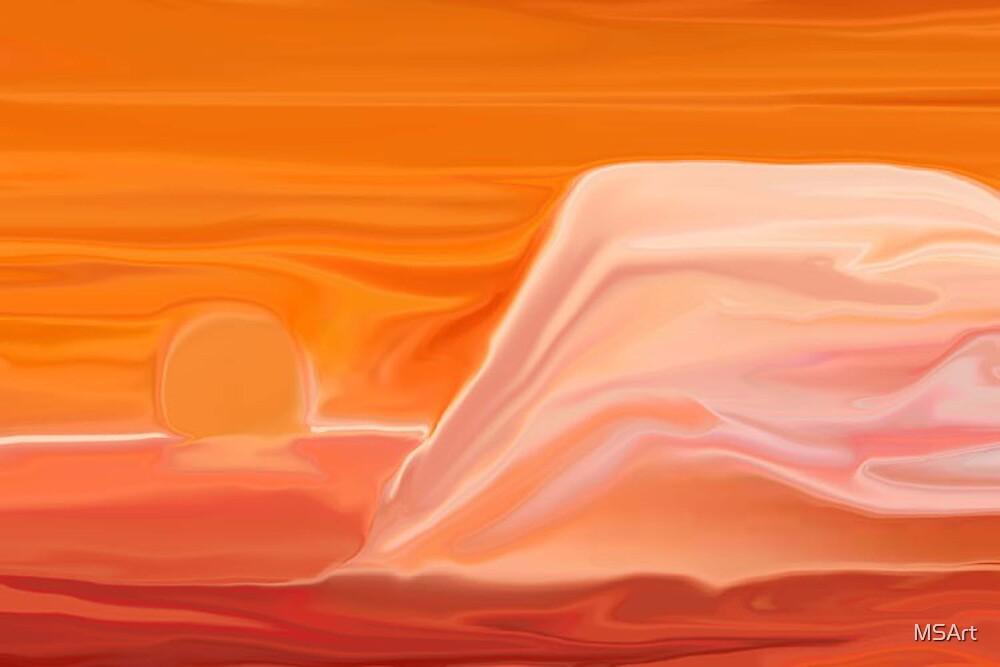 Sunset Mountain by MSArt