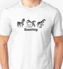 Eventing Word Art Black T-Shirt