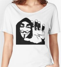 Graphic Tshirt Face Illustration Women's Relaxed Fit T-Shirt