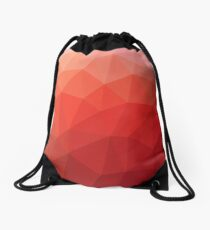 Red Triangles Drawstring Bag