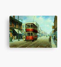 Stockport tram. Canvas Print