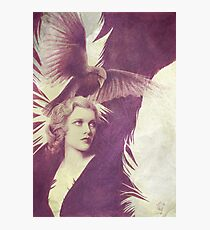 The Lady of Ravens surreal artwork Photographic Print