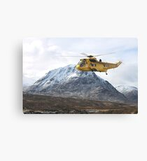 RAF Sea King - SAR  Helicopter Canvas Print