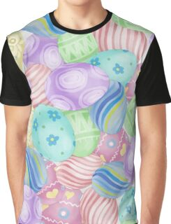 Watercolor Easter Eggs Pattern Graphic T-Shirt