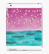 Cherry Blossom Tree on the Water iPad Case/Skin