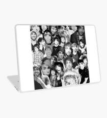 alex gaskarth collage b&w Laptop Skin