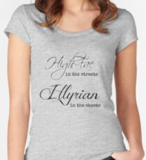 Illyrian in the Sheets Women's Fitted Scoop T-Shirt