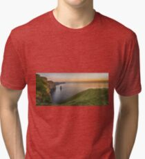 cliffs of moher sunset county clare ireland Tri-blend T-Shirt