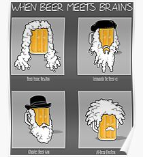 Beer Meets Brains Poster
