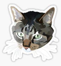 Brown Tabby Cat Sticker