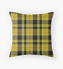 yellow and black clan Scottish tartan Throw Pillow
