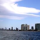 Surfers Paradise Skyline,with Big White Cloud by Virginia McGowan