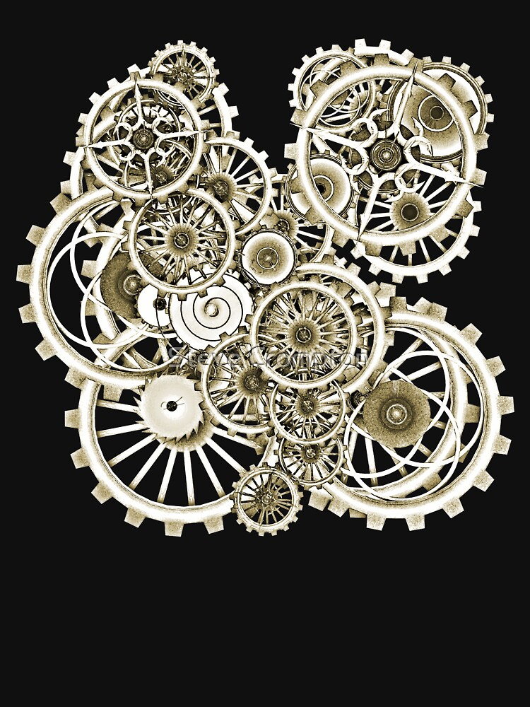 Steampunk Gears on your Gear No.2 Vintage Style Steampunk T-Shirts by SC001