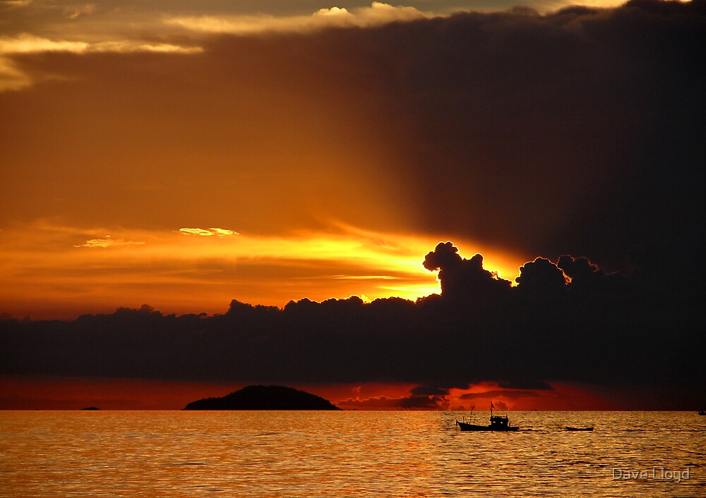 Sea Sunset by Dave Lloyd