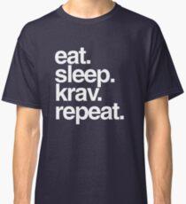 Eat Sleep Krav Repeat Classic T-Shirt