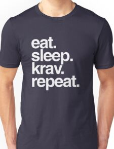 Eat Sleep Krav Repeat Unisex T-Shirt