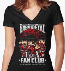 BabyMetal (Chibi) Fan Club Women's Fitted V-Neck T-Shirt