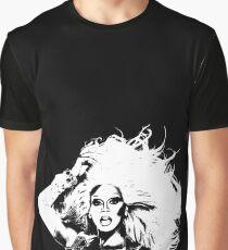 RuPaul - Black and White Graphic T-Shirt