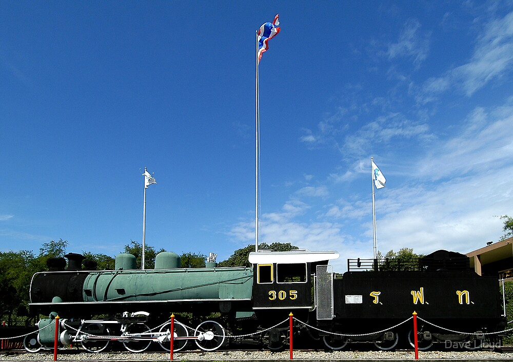 Old Train At Hua Hin by Dave Lloyd