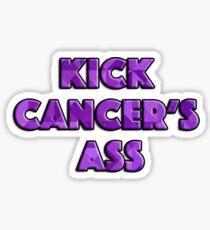 Kick Cancer's Ass Sticker