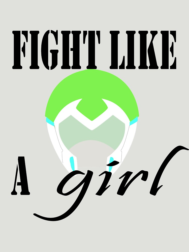 Voltron Inspired Fight Like A Girl Quote Unisex T Shirt By