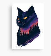 midnight cat Canvas Print