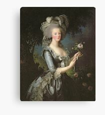 Elisabeth Louise Vigee - Lebrun - Marie Antoinette (1755 ) With A Rose Canvas Print